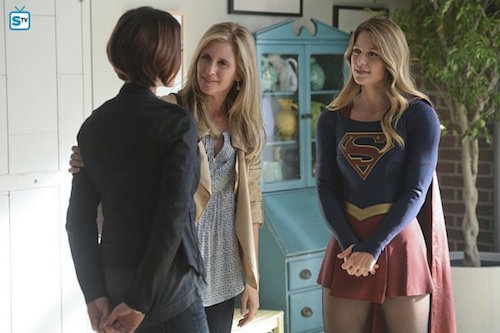 Chyler Leigh Helen Slater Melissa Benoist Supergirl Livewire