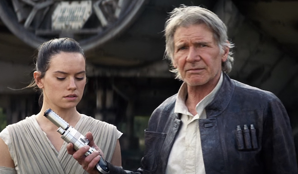 Daisy Ridley Harrison Ford Star Wars The Force Awakens