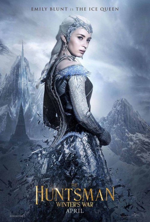 Emily Blunt The Huntsman Winters War movie poster
