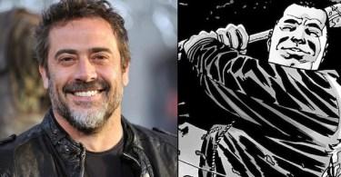 Jeffrey Dean Morgan Negan The Walking Dead Comic Book