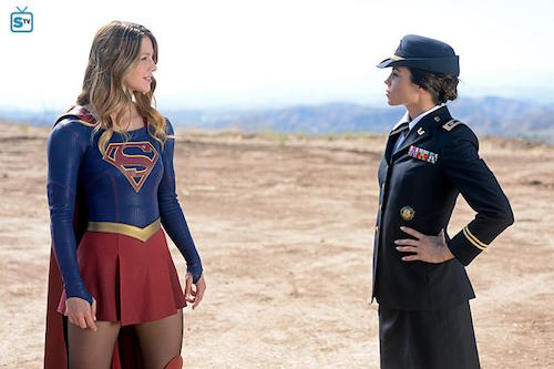 Melissa Benoist Jenna Dewan-Tatum Supergirl Red Faced
