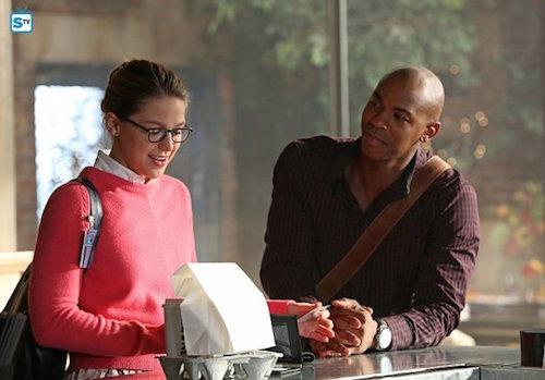 Melissa Benoist Mehcad Brooks Supergirl Red Faced