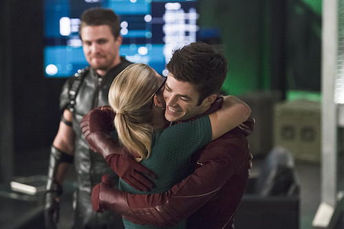 Grant Gustin Stephen Amell Emily Bett Rickards The Flash Legends of Today