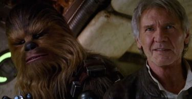 Peter Mayhew Harrison Ford Star Wars The Force Awakens 02