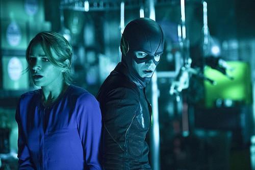 Shantel VanSanten Grant Gustin The Flash Running to Stand Still