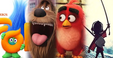Trolls, The Secret of Pets, The Angry Birds Movie and Kubo and the Two Strings