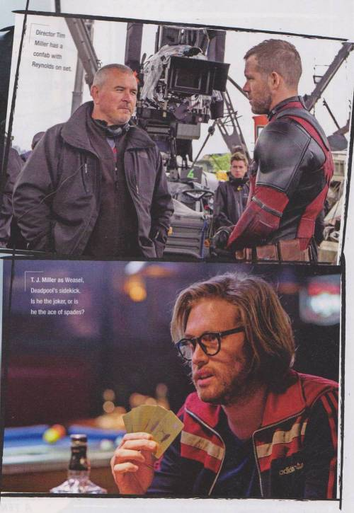 Tim Miller Ryan Reynolds T.J. Miller Deadpool Set