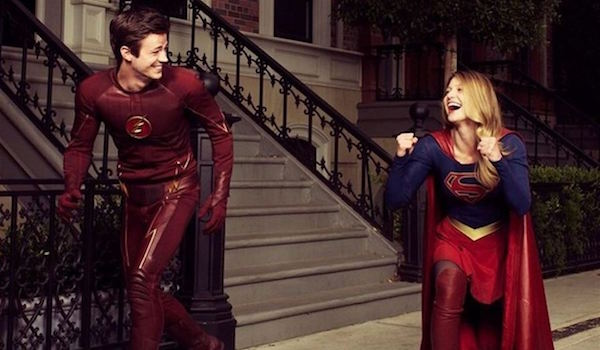 Grant Gustin Melissa Benoist The Flash Supergirl