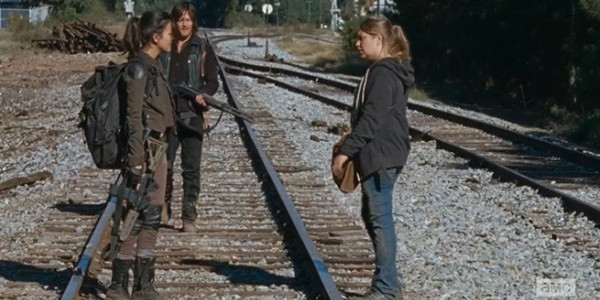 Christian Serratos Merritt Wever Norman Reedus The Walking Dead Twice as Far