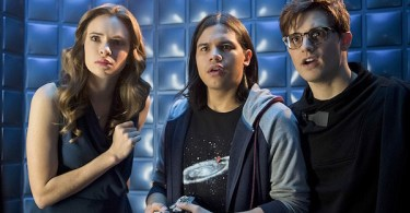 Danielle Panabaker Carlos Valdes Andy Mientus Flash Back The Flash