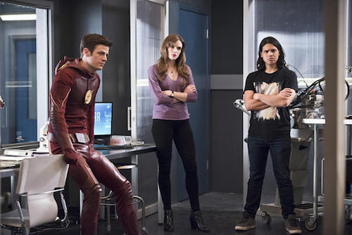 Grant Gustin Danielle Panabaker Carlos Valdes Versus Zoom The Flash