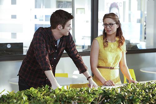 Grant Gustin Melissa Benoist World's Finest Supergirl