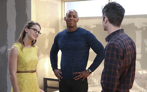 Melissa Benoist Mehcad Brooks Grant Gustin World's Finest Supergirl