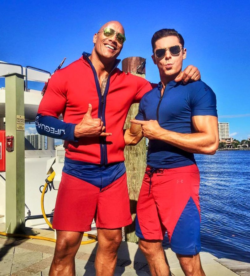 Dwayne Johnson Zac Efron Baywatch