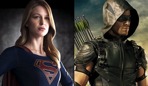 Melissa Benoist Stephen Amell Supergirl Arrow