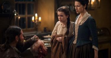 Duncan Lacroix Rosie Day Caitriona Balfe Outlander Vengeance Is Mine