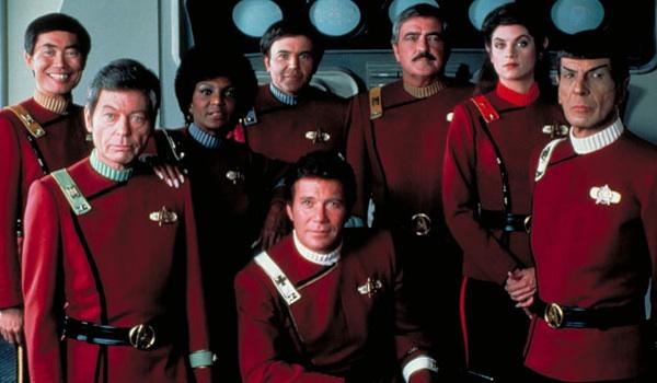 George Takei DeForest Kelley Nichelle Nichols Walter Koenig William Shatner James Doohan Kim Cattrall Leonard Nimoy Star Trek II The Wrath Of Khan