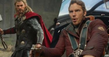 Chris Hemsworth Chris Pratt Thor Ragnarok Guardians Of The Galaxy