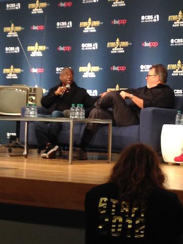 LeVar Burton Jonathan Frakes Star Trek: Mission Panel