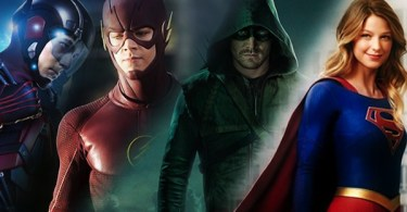 Brandon Routh Grant Gustin Stephen Amell Melissa Benoist Legends Of Tomorrow The Flash Arrow Supergirl