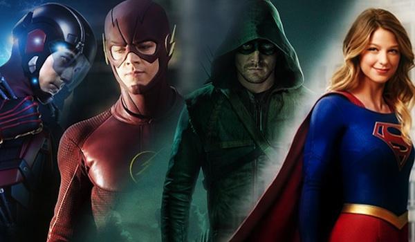 Brandon Routh Grant Gustin Stephen Amell Melissa Benoist Legends Of Tomorrow The Flash Arrow Supergirl