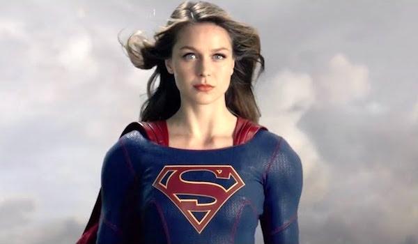 Melissa Benoist In Flight Supergirl