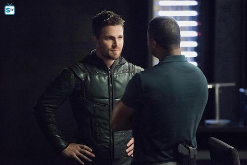 Stephen Amell David Ramsey Human Target Arrow