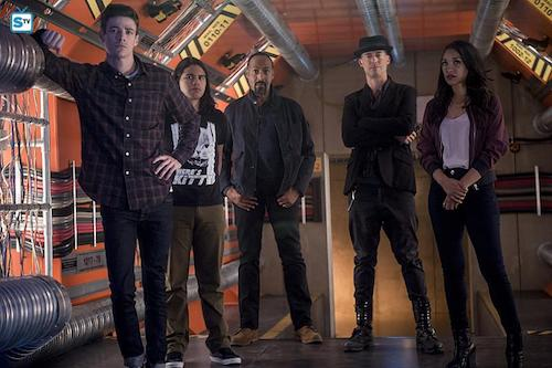 Grant Gustin Carlos Valdes Jesse L. Martin Tom Cavanagh Candice Patton Killer Frost The Flash