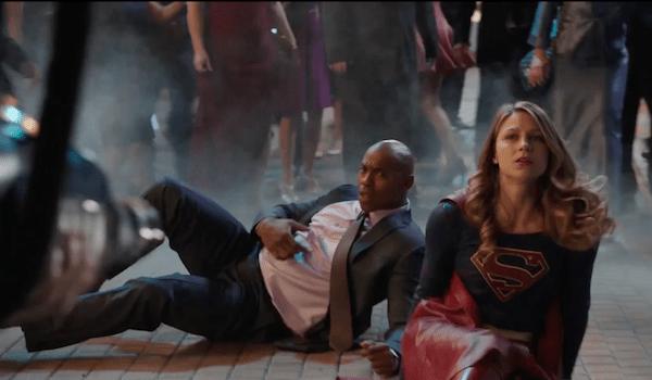 Mehcad Brooks Melissa Benoist Crossfire Supergirl Trailer