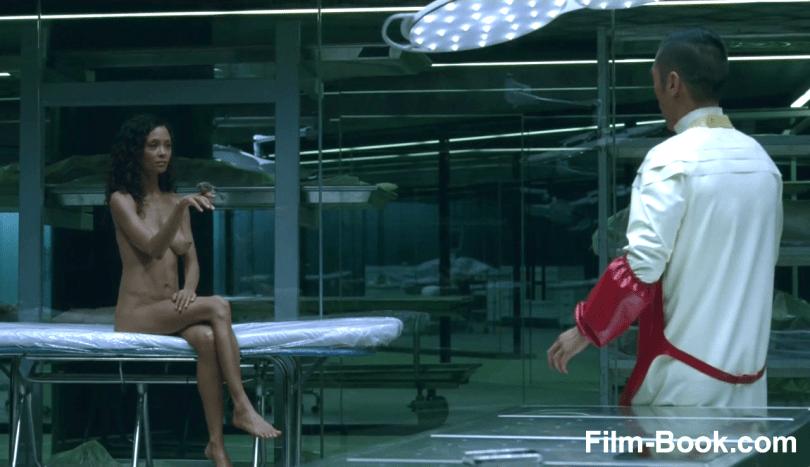 Thandie Newton Breasts Leonardo Nam Westworld Contrapasso