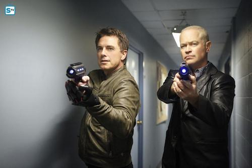 John Barrowman Neal McDonough Raiders of the Lost Art Legends of Tomorrow