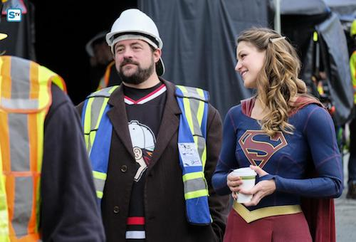 Kevin Smith Melissa Benoist Supergirl Lives Supergirl