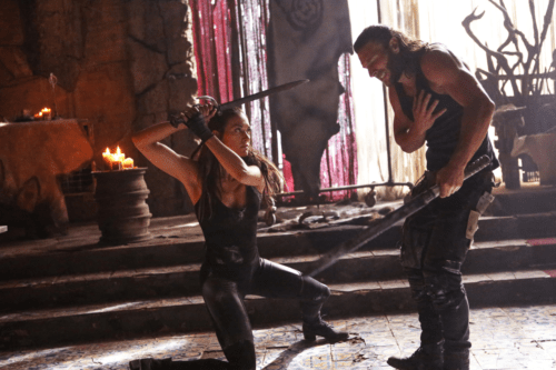 Tasya Teles Zach Mcgowan The 100 Heavy Lies the Crown