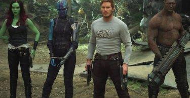 Zoe Saldana Karen Gillan Chris Pratt Dave Bautista Guardians of the Galaxy Vol. 2