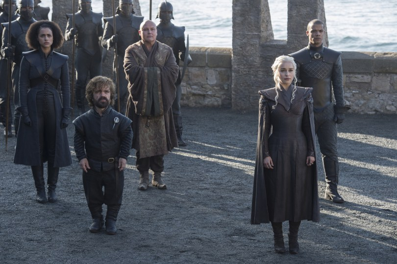 Nathalie Emmanuel Jacob Anderson Conleth Hill Peter Dinklage Emilia Clarke Games of Thrones: Season 7