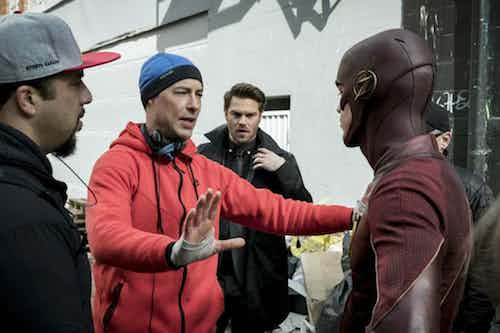 Tom Cavanagh Grant Gustin The Once and Future Flash The Flash