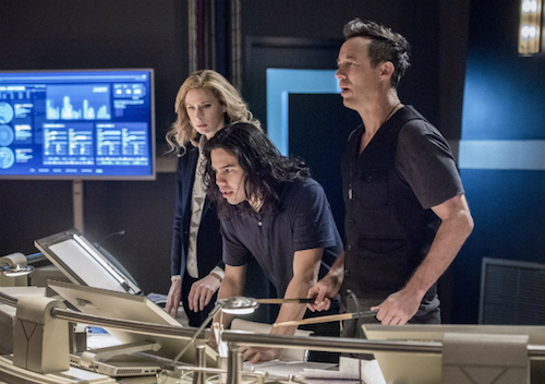 Anne Dudek Carlos Valdes Tom Cavanagh Infantino Street The Flash
