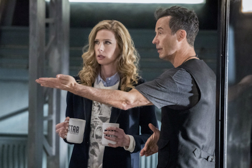 Anne Dudek Tom Cavanagh Infantino Street The Flash