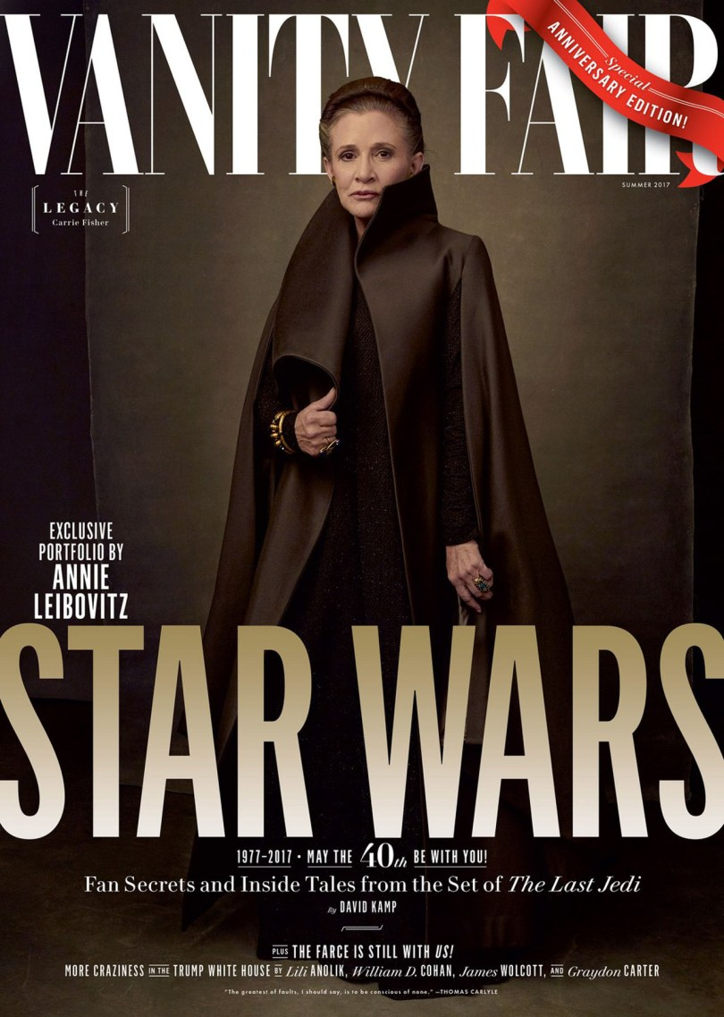 Carrie Fisher Star Wars: The Last Jedi Vanity Fair Cover