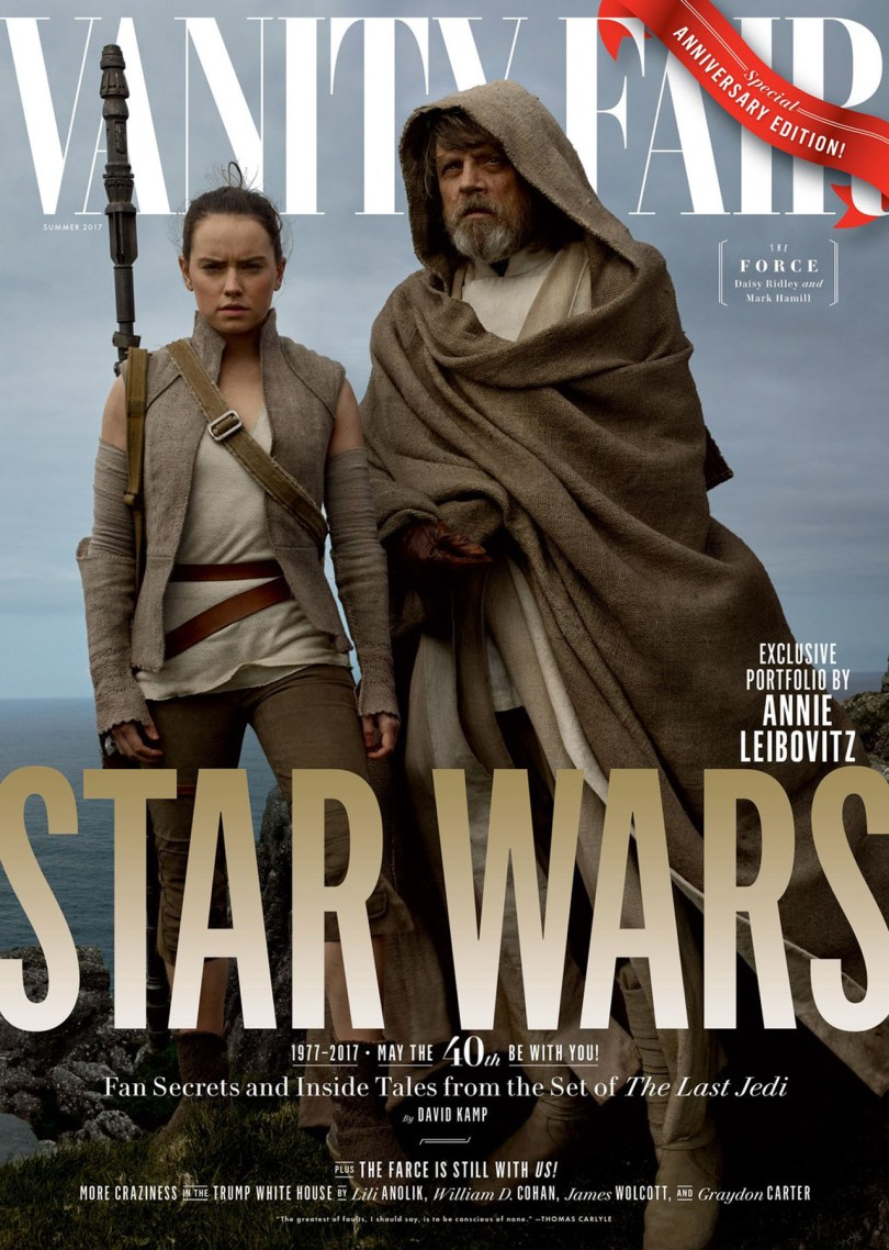 Daisy Ridley Mark Hamill Star Wars: The Last Jedi Vanity Fair Cover