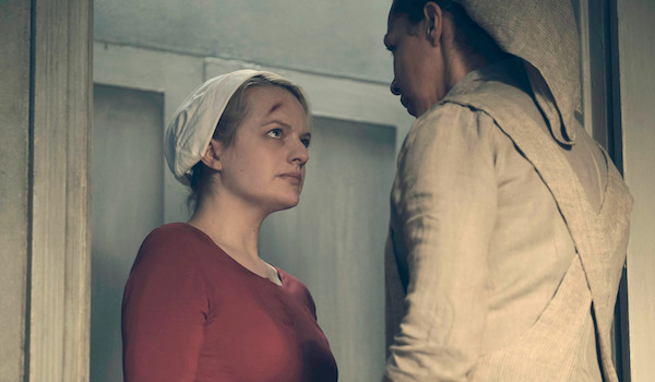 Elisabeth Moss Amanda Brugel The Handmaid's Tale Night