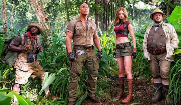 Dwayne Johnson Jack Black Kevin Hart Karen Gillan Jumanji Welcome to the Jungle
