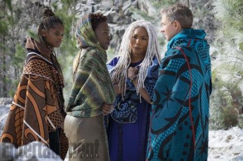 Letitia Wright Angela Bassett Lupita Nyong'o Martin Freeman Black Panther