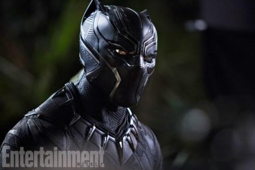 Chadwick Boseman Holding Black Panther