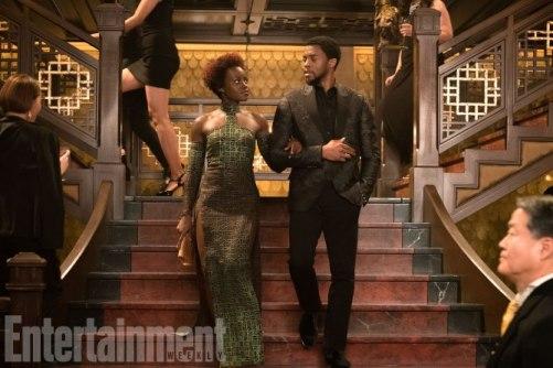Lupita Nyong'o Chadwick Boseman Black Panther