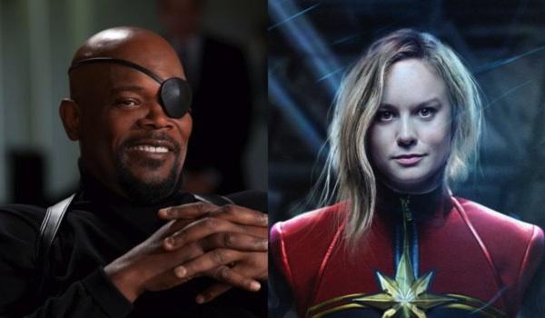 Samuel L Jackson Avengers Brie Larson Captain Marvel