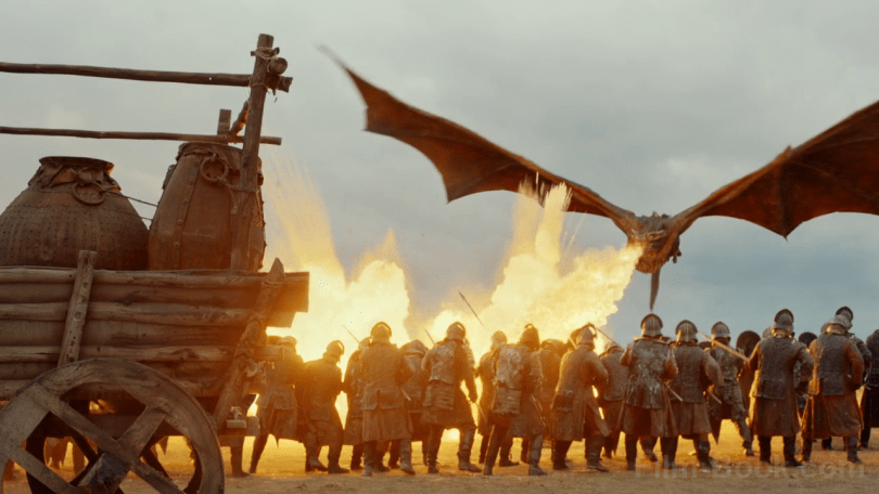 Drogon Fire Lannister Army Game of Thrones The Spoils of War