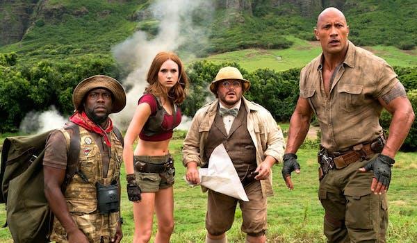 Jack Black Kevin Hart Dwayne Johnson Karen Gillan Jumanji: Welcome to the Jungle