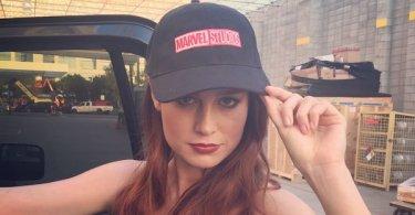 Brie Larson Marvel Studios Hat