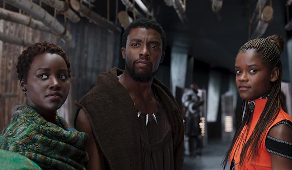 Chadwick Boseman Lupita Nyong'o Letitia Wright Black Panther